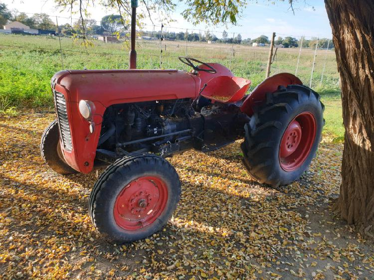 Massey ferguson tractor with implements