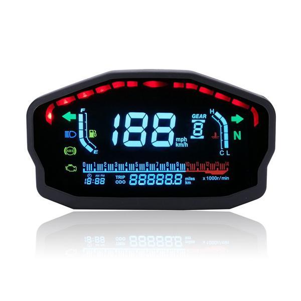 14000rmp motorcycle digital lcd speedometer odometer water