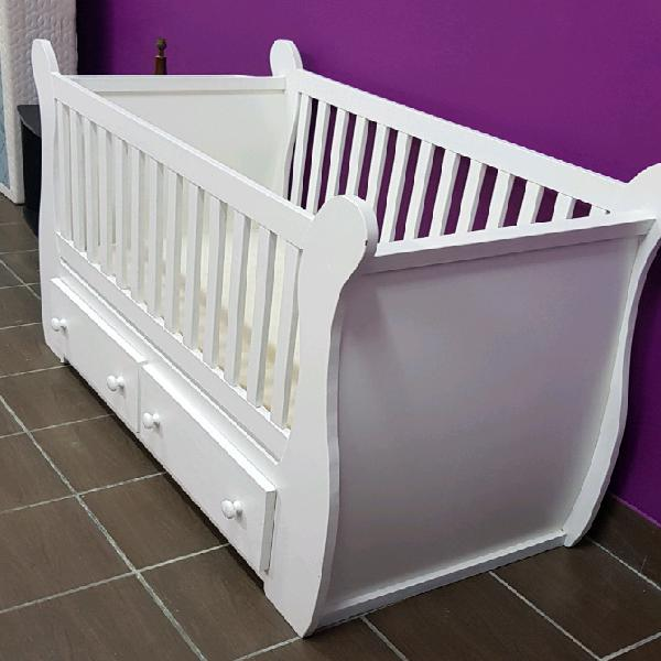Extra large solid wood sleigh cot