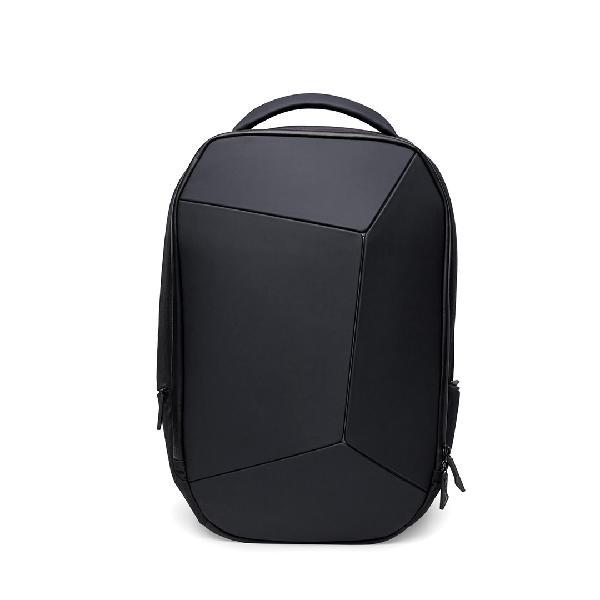 Geek 15.6 inch black mens backpack laptop bag 4 level