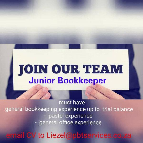 Junior bookkeeper position