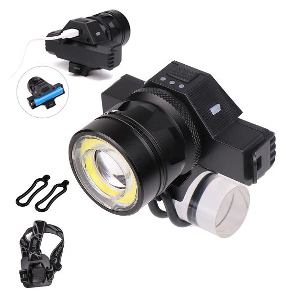 Waterproof usb rechargeable front led headlights zoomable t6