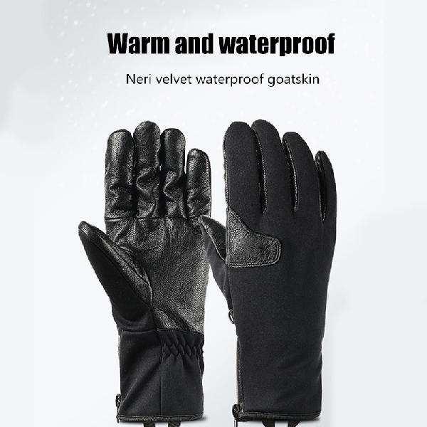 Winter heated gloves outdoor motorcycle riding waterproof