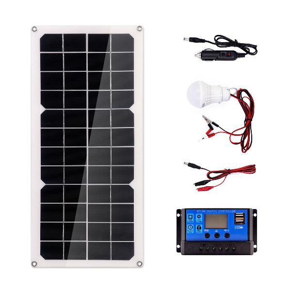 20w monocrystalline silicon solar panel system + 10a solar
