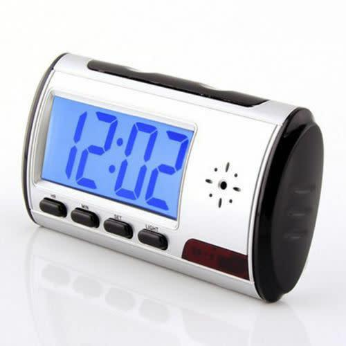 Camera alarm clock micro hidden nanny cam motion detection