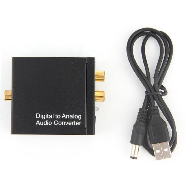 Digital coaxial toslink optical to analog l/r rca audio