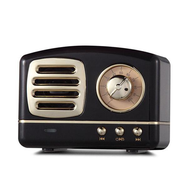Hifi mini retro wireless bluetooth speaker portable fm radio