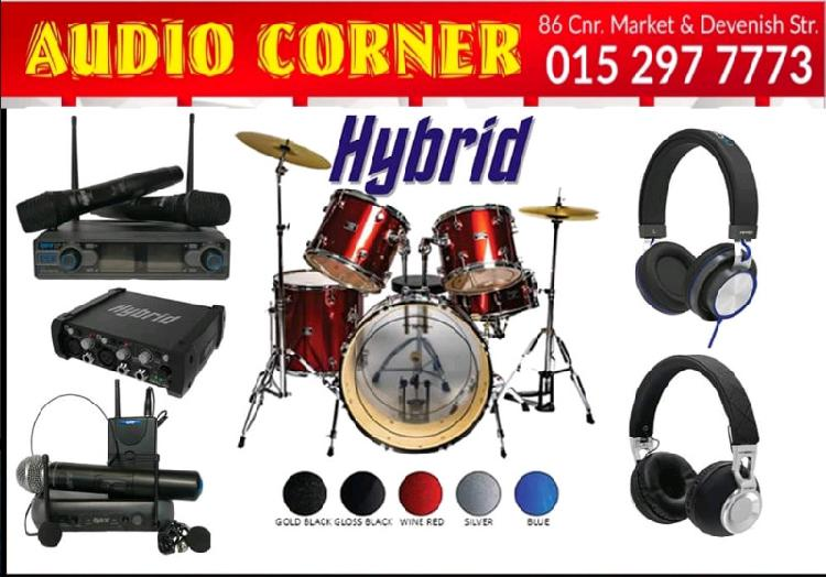 Instruments available at audio corner