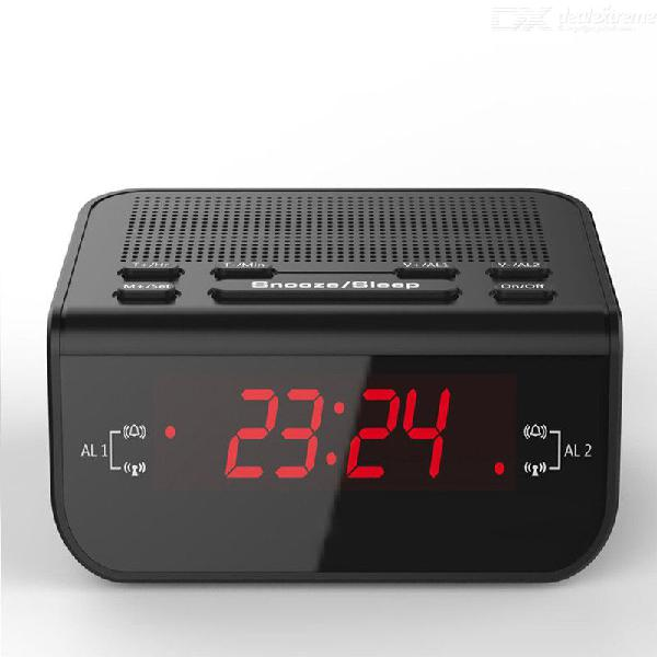 Led fantastic fm radio digital alarm clock with sleep timer