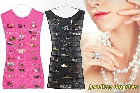 Little black dress- jewelry organizer - pink & black