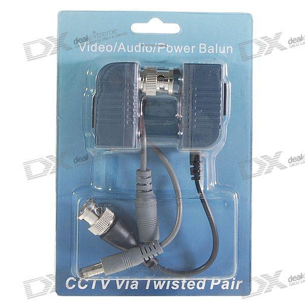 Rj45 video balun transceivers - bnc video/power over rj45