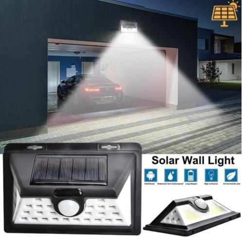 Solar lights 32 led 52led 118led wall solar light outdoor