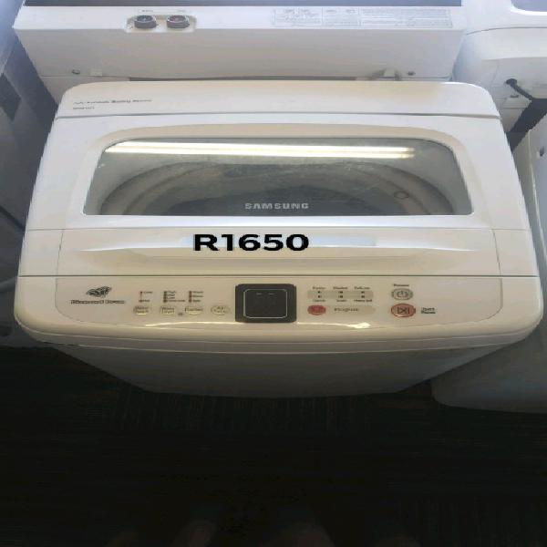 White samsung 8kg diamond drum top loader washing