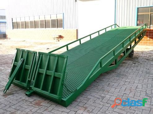 Mobile hydraulic loading ramps