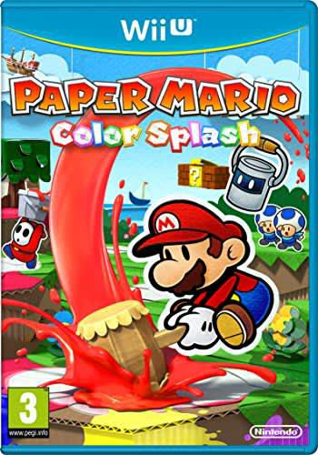 Paper mario color splash (pal wii u)(no booklet)