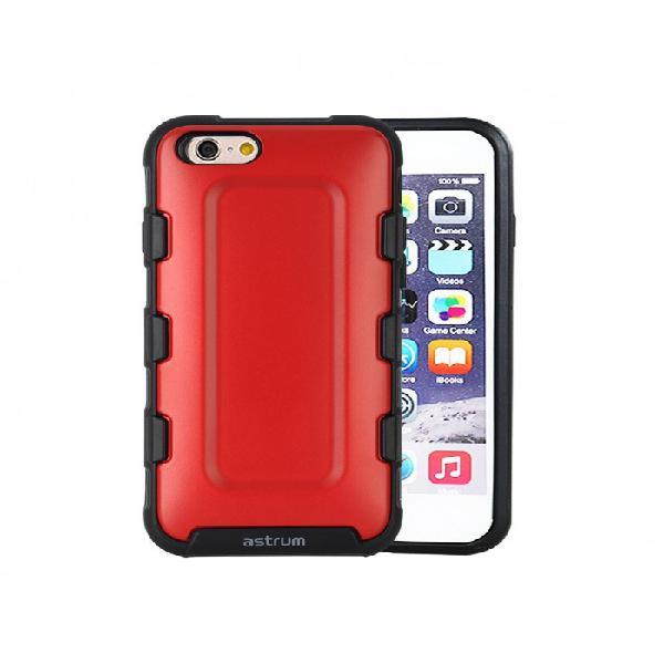 Astrum a21016-n rugged rubber sports mobile case red for