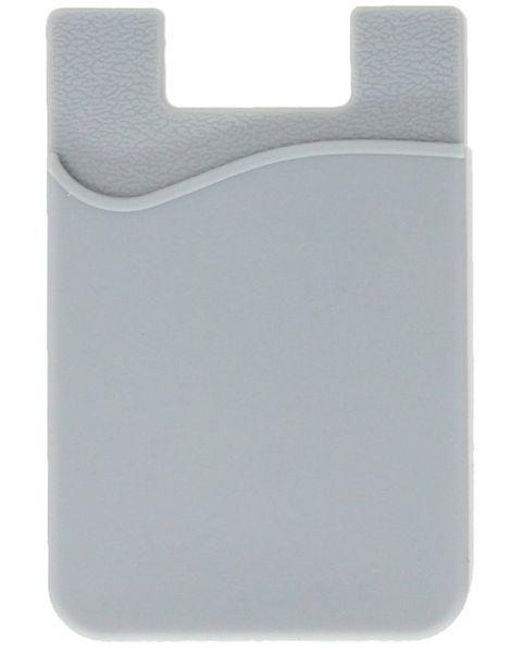 Cell phone stick-on wallet thin silicone credit card holder