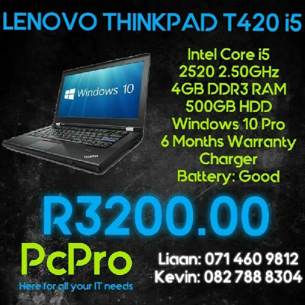 Lenovo thinkpad t420 i5 laptop