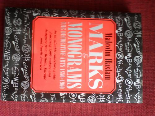 Marks & monograms 1880-1960 by malcolm haslam. hard cover