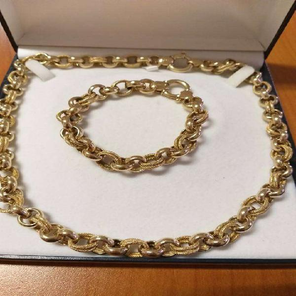 Rolo yellow gold chain & bracelet
