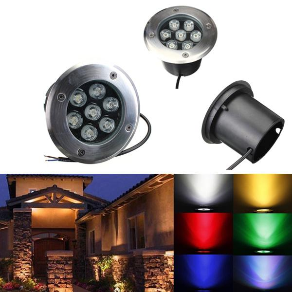 7w led waterproof outdoor in ground garden path flood