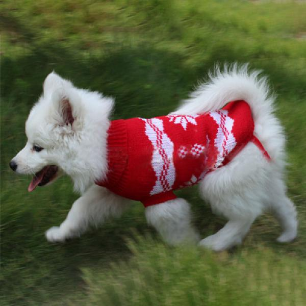Christmas snowflake pet dog cat autumn winter sweaters warm