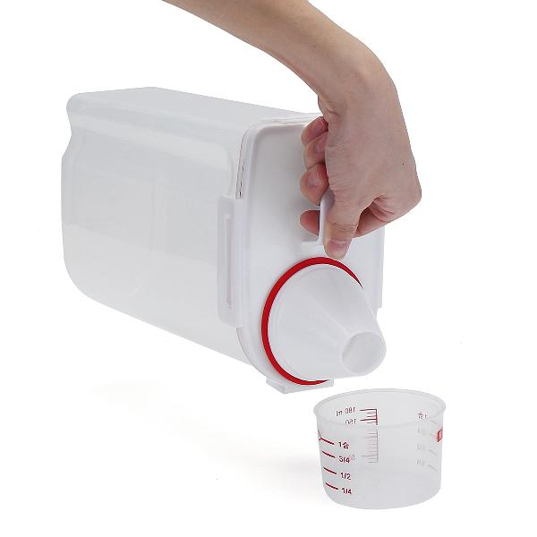 Dog cat pet animal food storage container dry dispenser cup