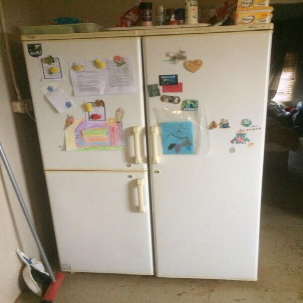 Double door fridge freezer