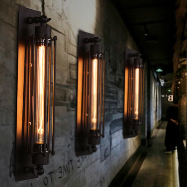 Industrial vintage retro lamp wall light sconce loft ceiling