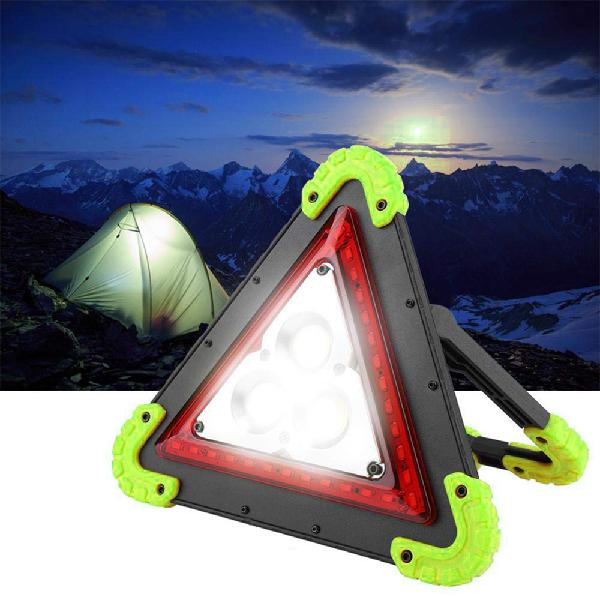 Lustreon 3 cob+36 led outdoor portable handle triangle work