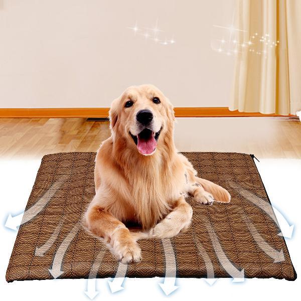 Pet dog cat summer cooling mat bed fiber mats chilly