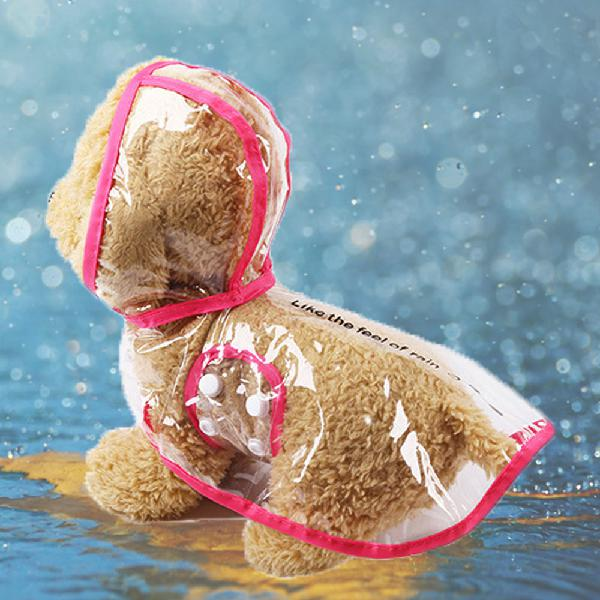 Pet dog puppy hooded rain coat waterproof jacket rainwear