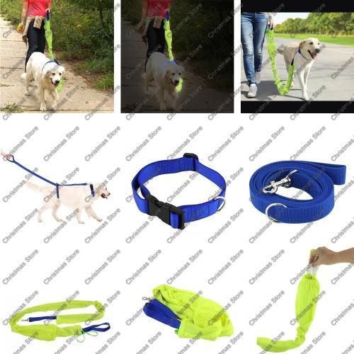 Reflective pet leash (3 piece set)