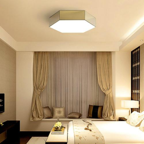 Simple living room aisle stainless steel ceiling lamp with