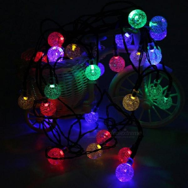 Solar powered led outdoor string lights 6m 30leds crystal