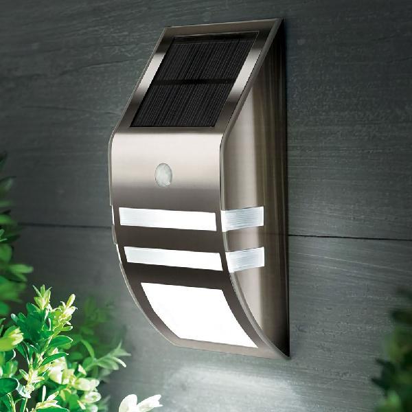 Stainless steel waterproof pir motion sensor led solar light