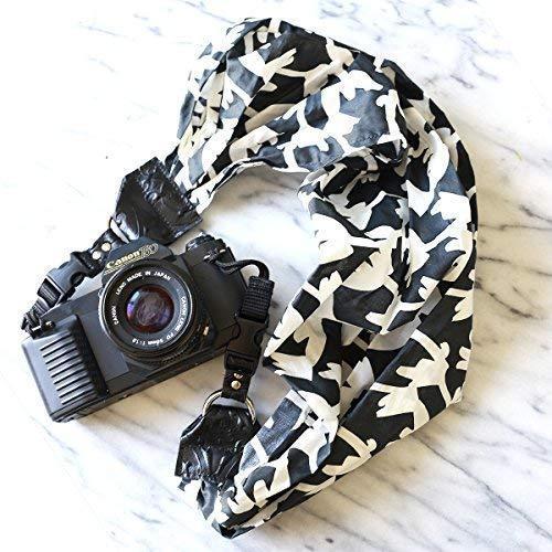 Mimi green 'windy' scarf dslr camera strap