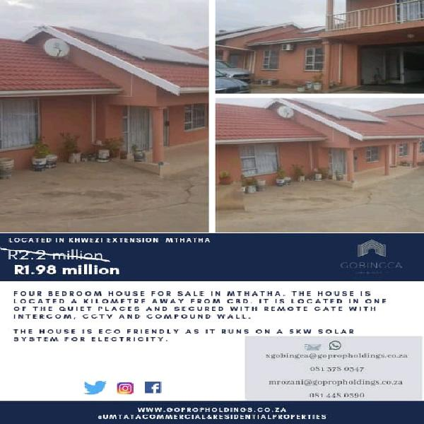 Eco friendly home for sale, mthatha
