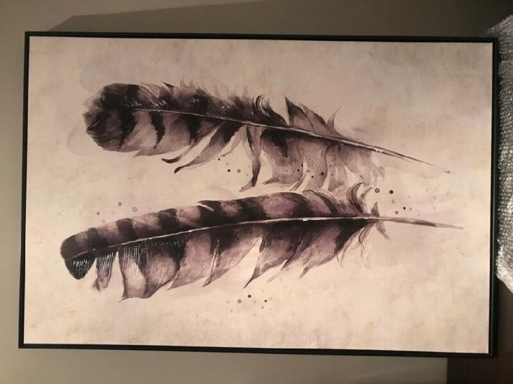Oil on canvas - feathers