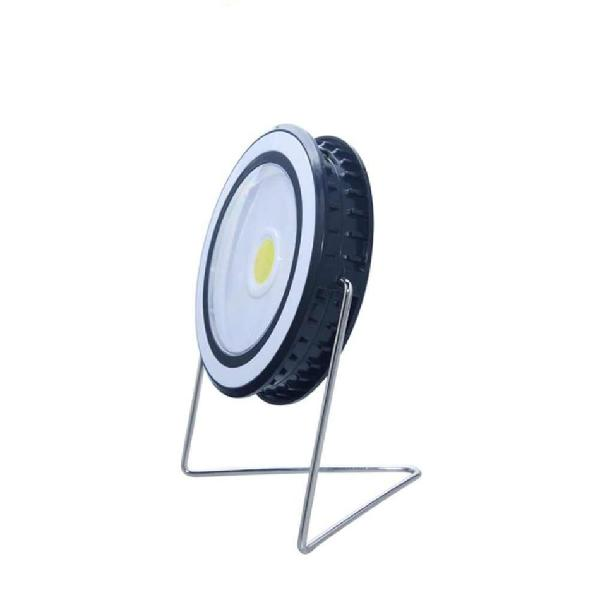 Round shape solar powered portable bulb lamp cob chip led