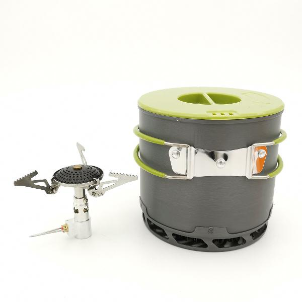 6pcs/set 1.2l camping pot 3000w cooking stove outdoor picnic