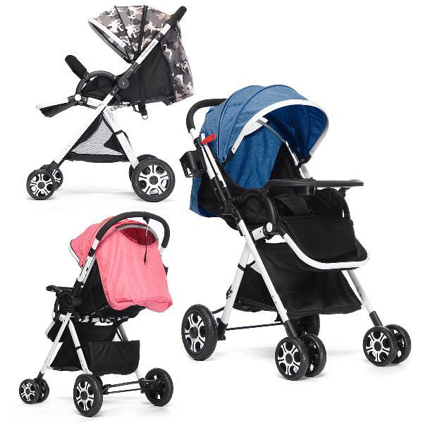 Adjustable baby pushchair stroller foldable buggy