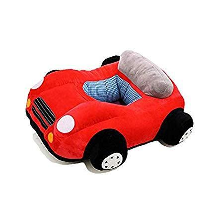 Plush car baby chair - red