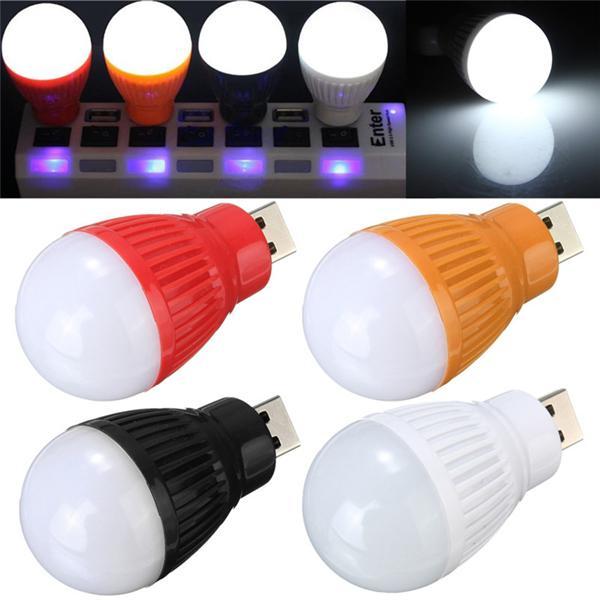 Portable 5w usb led ball desk reading light camp lamp bulb