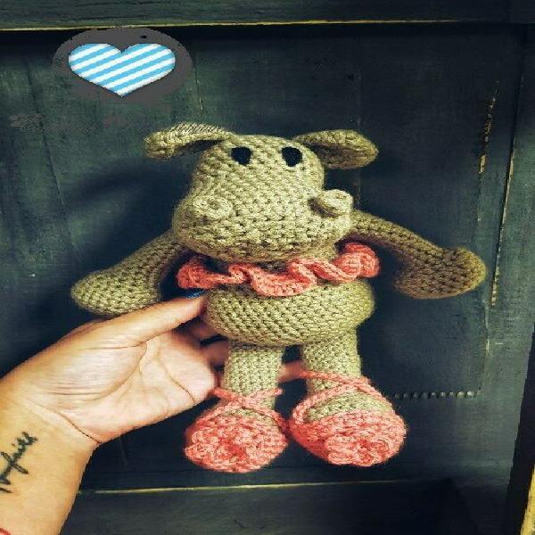 Crochet Ballerina Hippo