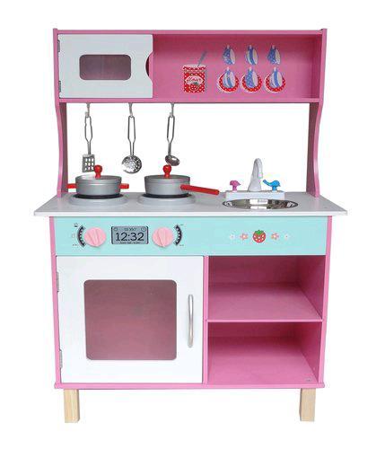Large Modern Wooden Toy Kitchen