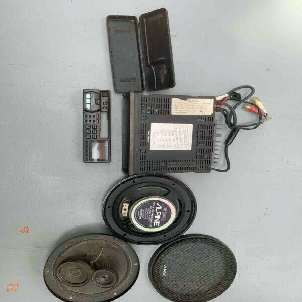 Alpine 7525r car radio cassette player