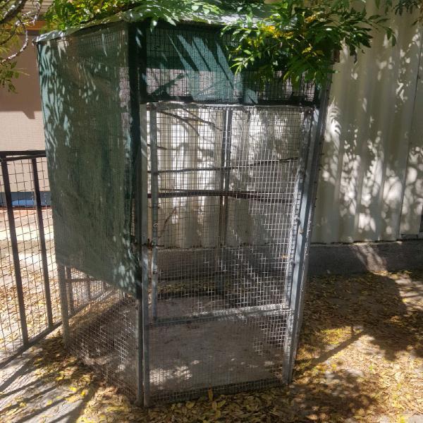 Galvanised steel bird cage