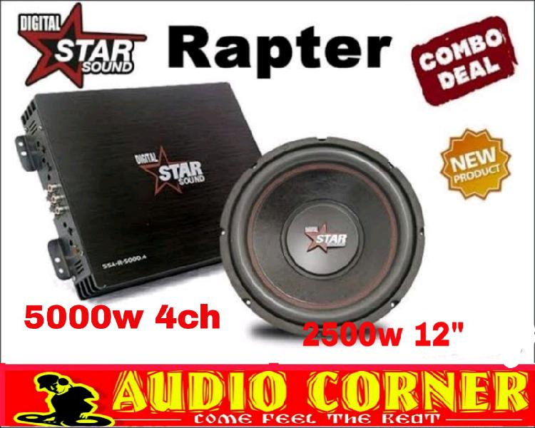 """Star sound combo amp with sub 12"""""""