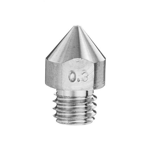3pcs 0.3mm MK8 TC4 Titanium Alloy M6 Thread Nozzle For 3D
